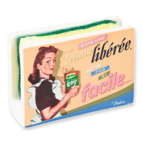 Porte ponge femme lib r e natives d co r tro vintage provence ar mes tendance sud - Porte eponge et produit vaisselle ...