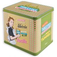 Boîte tablettes vaisselle FEMME LIBÉRÉE Natives déco rétro vintage