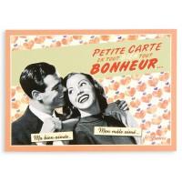 Carte postale COUPLE Natives déco rétro vintage humoristique