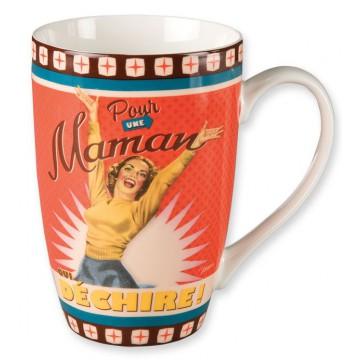 Mug POUR UNE MAMAN QUI DÉCHIRE Natives déco rétro vintage
