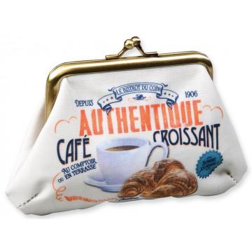 Porte-monnaie CAFÉ CROISSANT Natives déco rétro vintage
