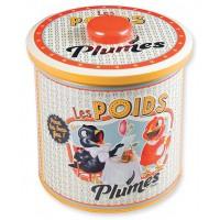 Boîte à biscuits LES POIDS PLUMES Natives déco rétro vintage