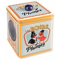 Boîte à bonbons LES POIDS PLUMES Natives déco rétro vintage