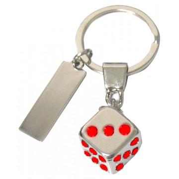 Porte clés Dé de jeu porte-clé métal