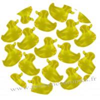 Perle de bain canard jaune citron