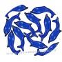 Perle de bain dauphin bleu marine
