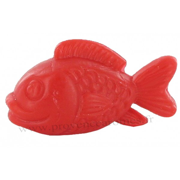 Savon en forme de poisson rouge provence ar mes tendance sud for Forme aquarium poisson rouge