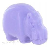 Savon en forme de d'hippopotame violet