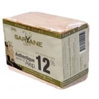 Savon d' Alep 12% de laurier Pain Saryane 200g