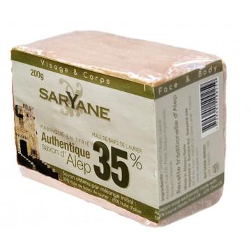 savon d' Alep 35% de laurier Pain Saryane 200g