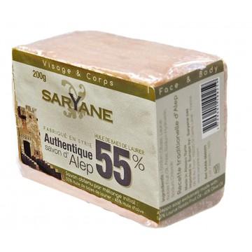 Savon d'Alep 55% de laurier Saryane Pain 200g