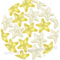 Perle de bain étoile jaune et blanc ananas