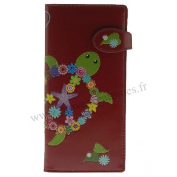 Portefeuille Compagnon rouge TORTUE