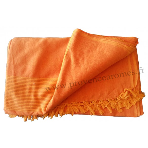 grande tenture k rala plaid couvre lit orange frang clair provence ar mes tendance sud. Black Bedroom Furniture Sets. Home Design Ideas