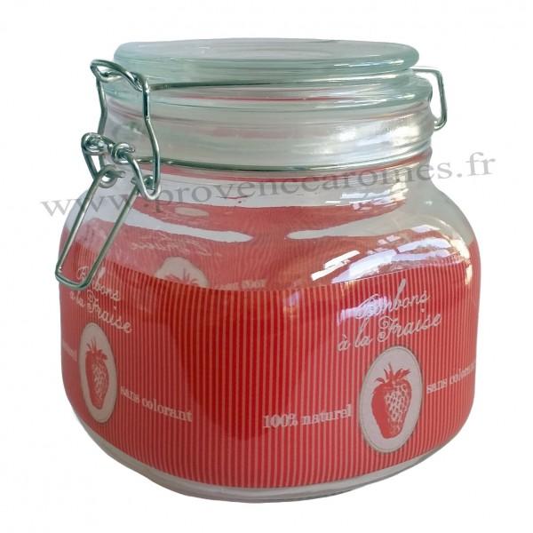 bocal en verre herm tique d cor bonbons la fraise. Black Bedroom Furniture Sets. Home Design Ideas