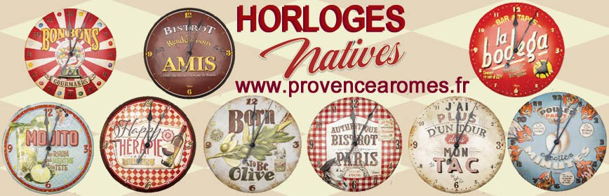 HORLOGES Natives déco rétro vintage