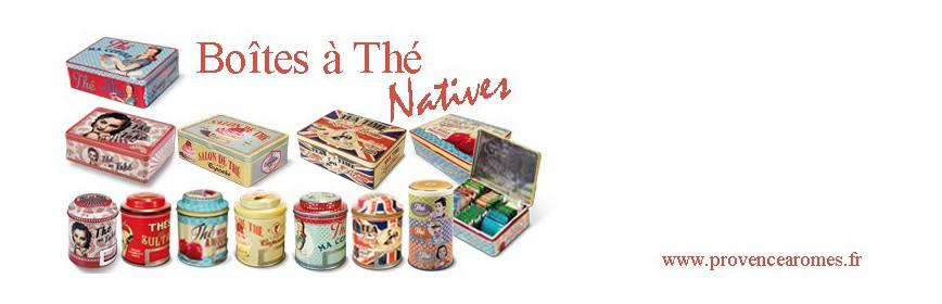 Boîtes à thé Natives déco rétro vintage