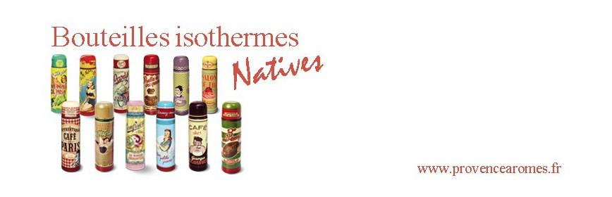 Bouteilles isothermes Natives déco rétro vintage