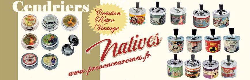 Cendriers Natives déco rétro et vintage