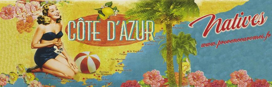 CÔTE D'AZUR Littoral Natives déco rétro vintage