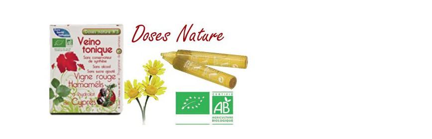 Doses Nature Ampoules BIO Extraits de plantes et hydrolats