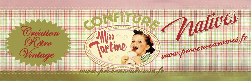 CONFITURE MISS TARTINE Natives déco rétro vintage