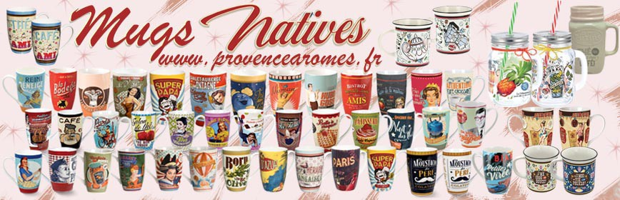 MUGS Natives déco rétro vintage