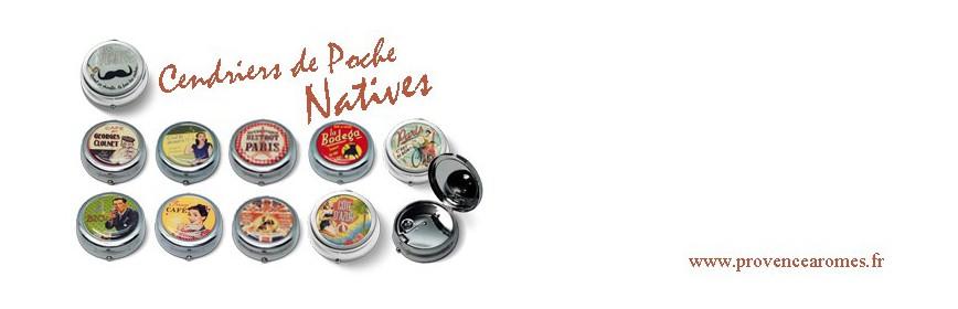 Cendrier de poche Natives déco rétro vintage