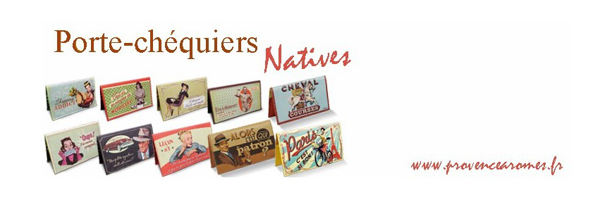 Porte chéquier Natives déco rétro vintage