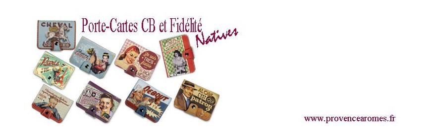 Porte-cartes Bancaires Natives déco rétro vintage