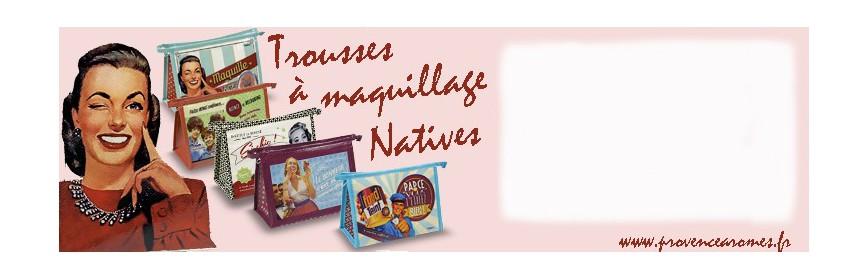 Trousse à Maquillage Natives déco rétro vintage