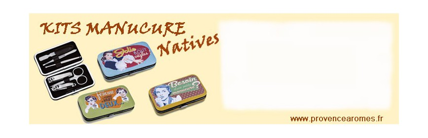 Kit manucure Natives déco rétro vintage