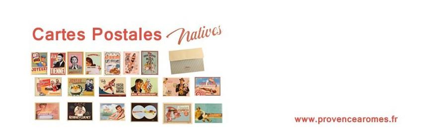 Cartes Postales Natives déco rétro vintage humoristique
