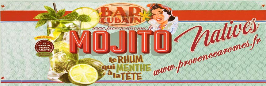 BAR CUBAIN MOJITO Natives déco rétro vintage