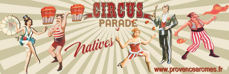 CIRCUS PARADE Natives déco rétro vintage