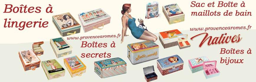 Boîtes à lingerie ou maillots de bain, Boîtes à bijoux ou à secrets