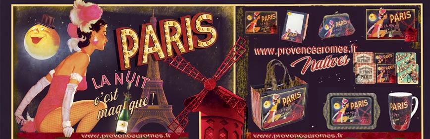 PARIS LA NUIT Natives déco rétro vintage