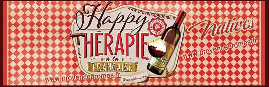 VIN HAPPY THÉRAPIE Française Natives déco rétro vintage
