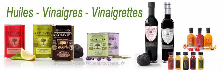 HUILE D'OLIVE - VINAIGRE - VINAIGRETTE A L'OLIVIER