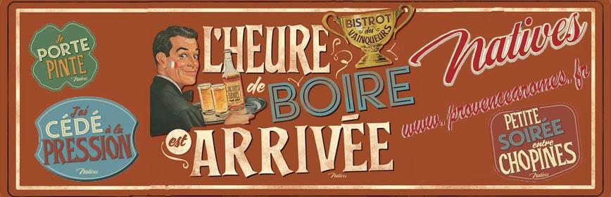 L'HEURE DE BOIRE Natives déco rétro vintage collection