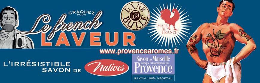 Savon de Marseille et boîtes Natives déco rétro vintage