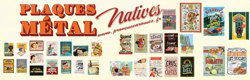 PLAQUES MÉTAL Natives déco rétro vintage