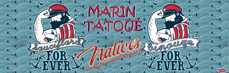 MARIN TATOUÉ Natives déco rétro vintage