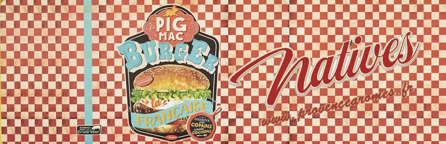 PIG MAC BURGER à la Française Natives déco rétro vintage