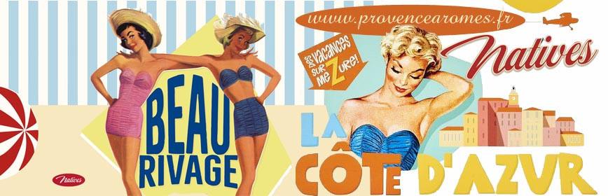 BEAU RIVAGE CÔTE D'AZUR Natives déco rétro vintage
