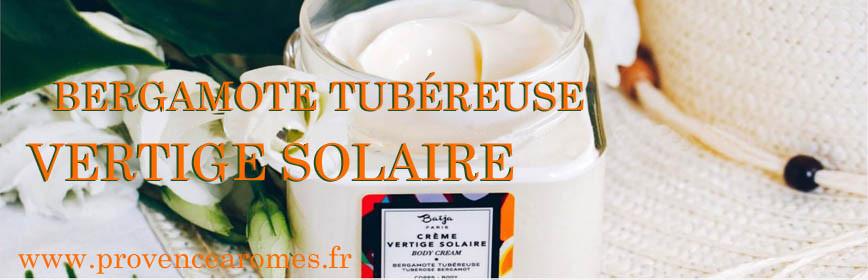 Bergamote tubéreuse Baïja soin et bien-être vertige solaire collection